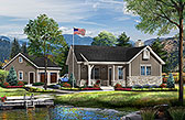 Plan Number 45152 - 867 Square Feet