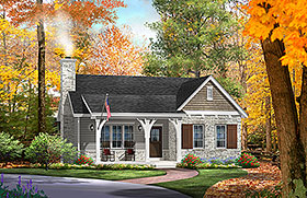 Cottage Country Craftsman Ranch House Plan 45156 Elevation