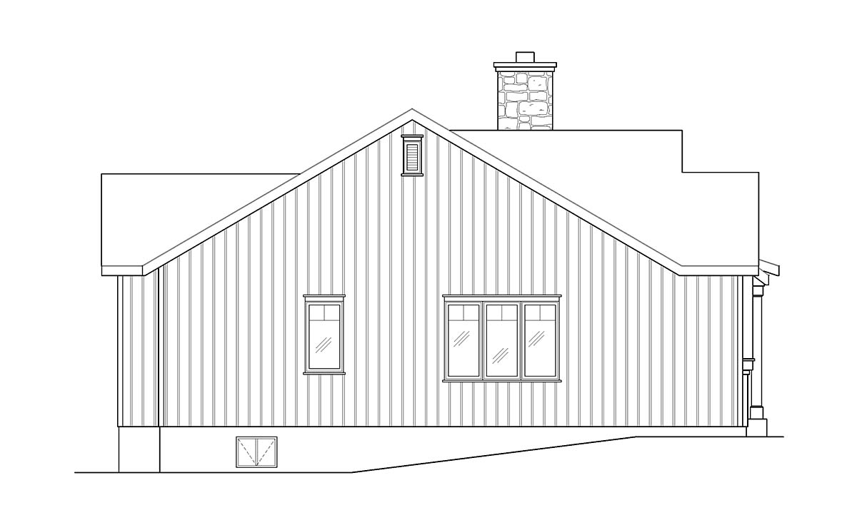 Cabin, Country, Craftsman House Plan 45157 with 2 Beds, 2 Baths Picture 2