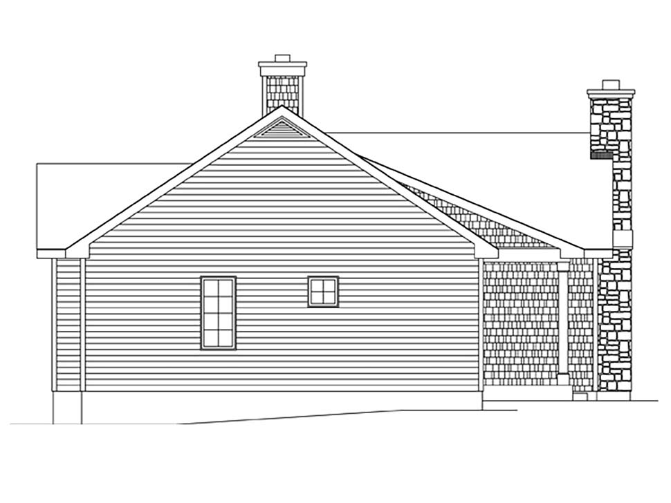 Bungalow, Cottage House Plan 45162 with 2 Beds, 2 Baths Picture 2