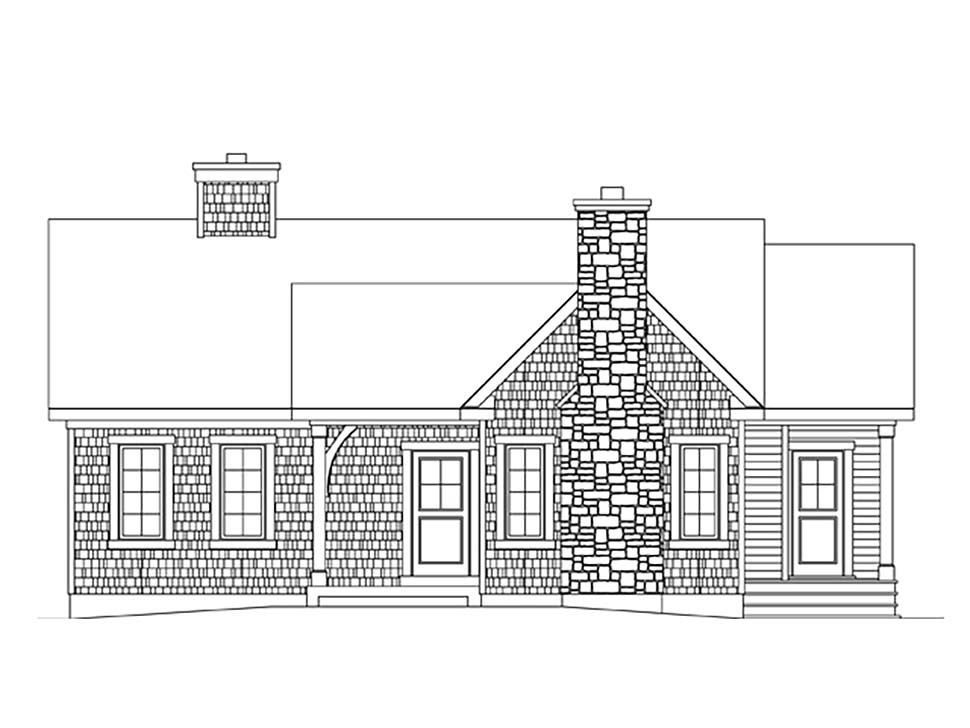 Bungalow, Cottage House Plan 45162 with 2 Beds, 2 Baths Picture 3