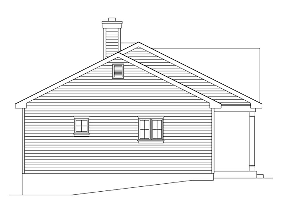 Bungalow, Cottage House Plan 45163 with 1 Beds, 1 Baths Picture 2