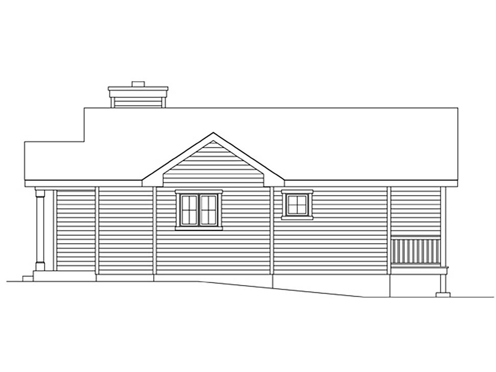 Bungalow, Cottage, One-Story House Plan 45169 with 1 Beds, 1 Baths Picture 1