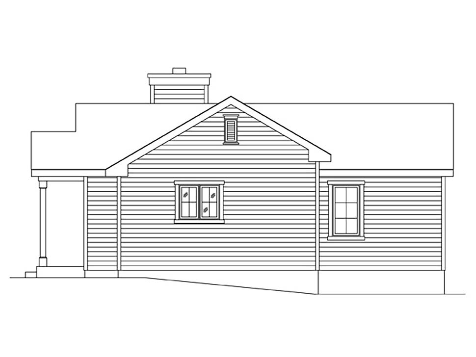 Bungalow, Cottage, Narrow Lot, One-Story House Plan 45172 with 1 Beds, 1 Baths Picture 1