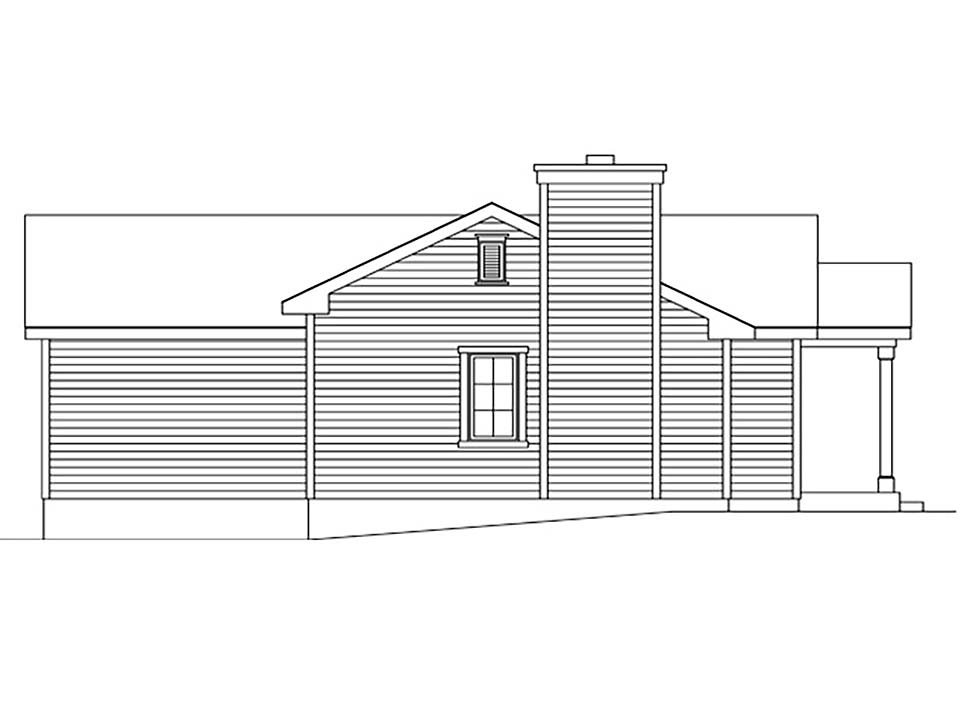 Bungalow, Cottage, Narrow Lot, One-Story House Plan 45172 with 1 Beds, 1 Baths Picture 2
