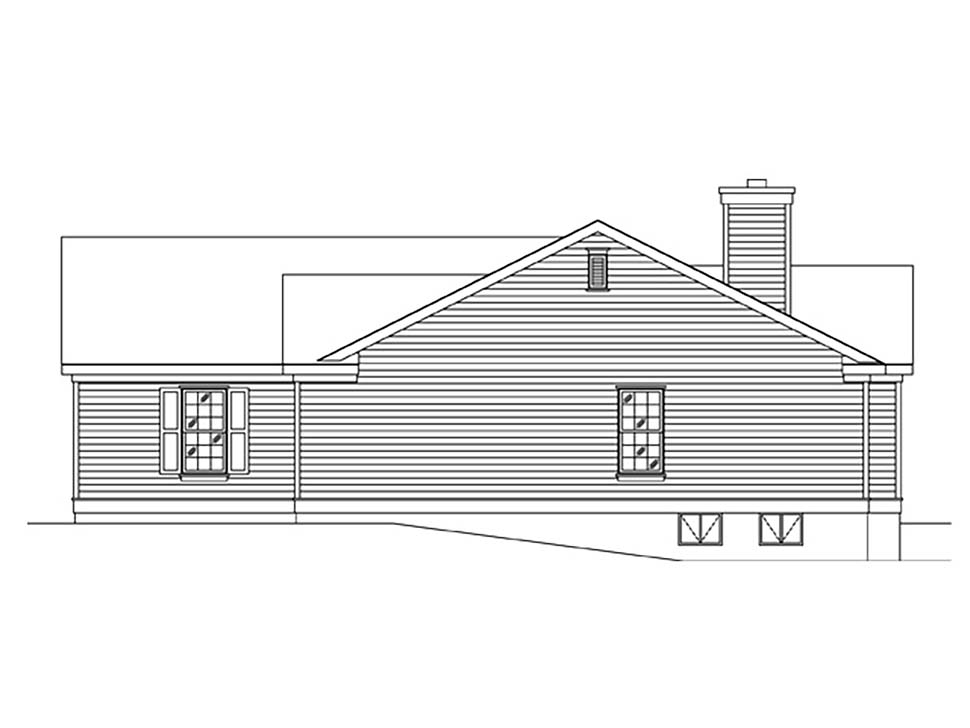 Ranch House Plan 45175 with 3 Beds, 2 Baths, 2 Car Garage Picture 1