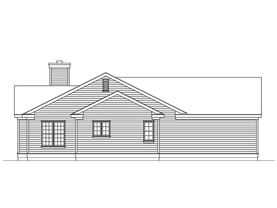 Ranch House Plan 45175 with 3 Beds, 2 Baths, 2 Car Garage Picture 2