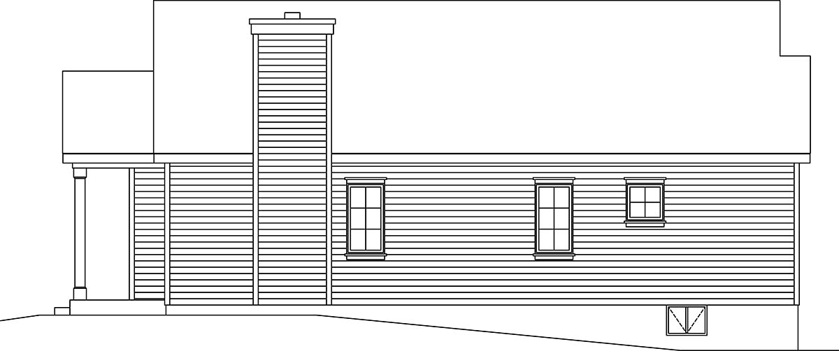 Bungalow, Cottage, Narrow Lot, One-Story House Plan 45177 with 3 Beds, 2 Baths Picture 1