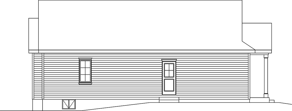 Bungalow, Cottage, Narrow Lot, One-Story House Plan 45177 with 3 Beds, 2 Baths Picture 2