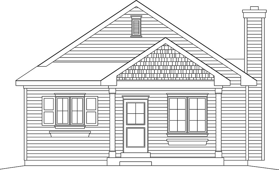 Bungalow, Cottage, Narrow Lot, One-Story House Plan 45177 with 3 Beds, 2 Baths Picture 3