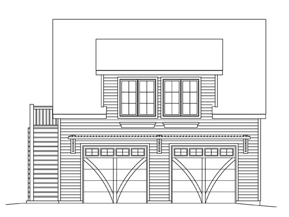 2 Car Garage Plan 45182 Picture 3
