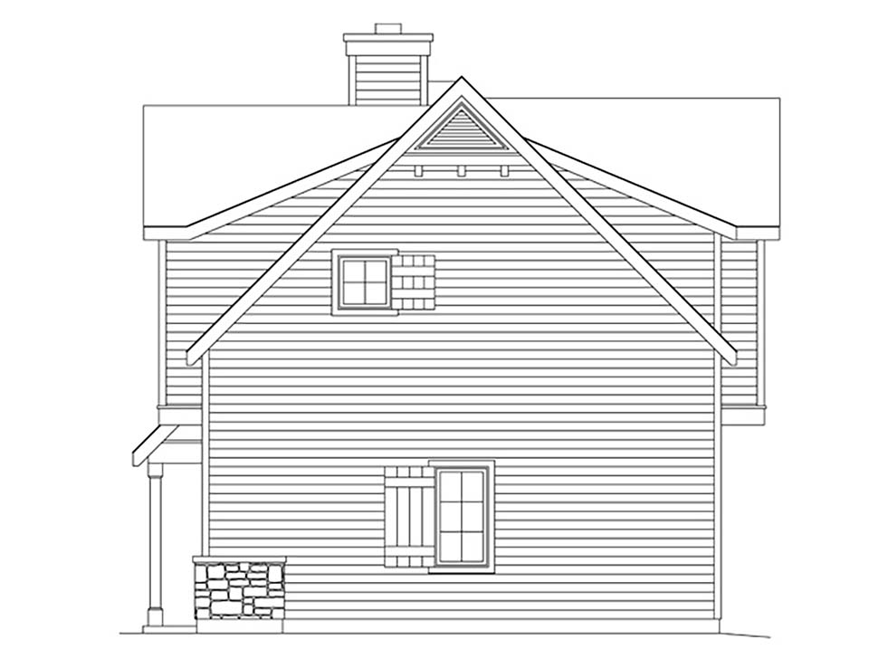 Farmhouse, Traditional 2 Car Garage Apartment Plan 45183 with 1 Beds, 1 Baths Picture 1