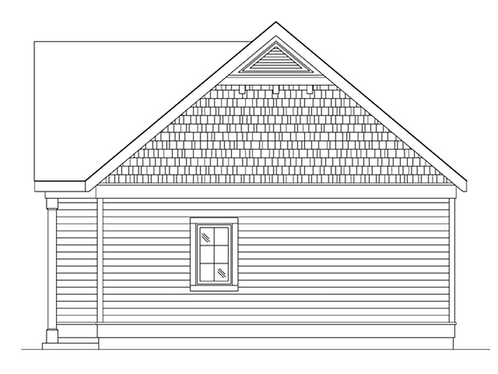 Cottage, Narrow Lot, One-Story House Plan 45184 with 1 Beds, 1 Baths Picture 1