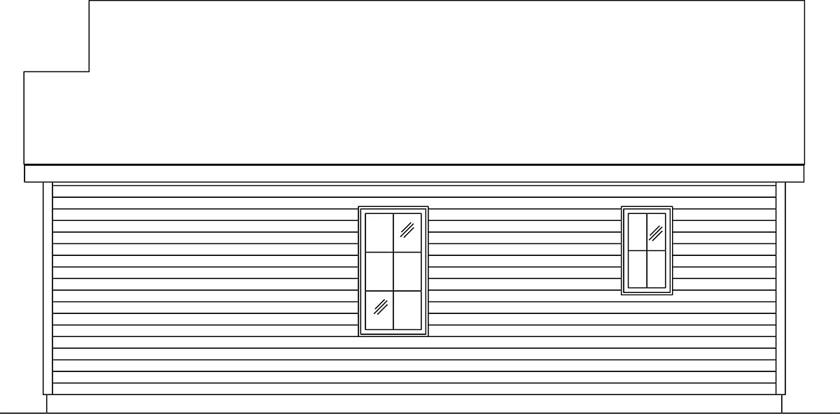 Cottage, Narrow Lot, One-Story House Plan 45187 with 1 Beds, 1 Baths Picture 1