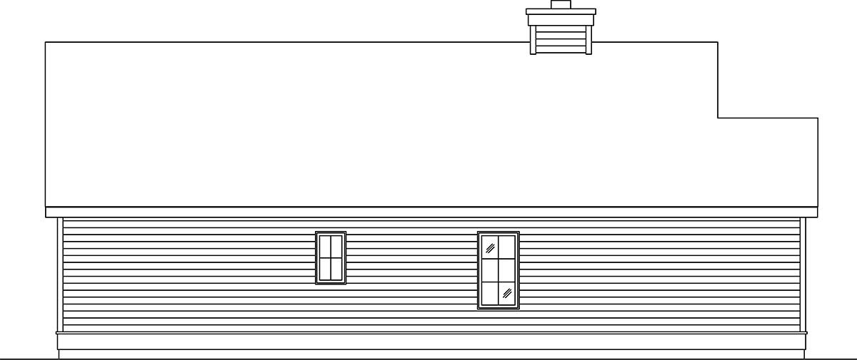 Narrow Lot, One-Story House Plan 45189 with 2 Beds, 1 Baths, 1 Car Garage Picture 2