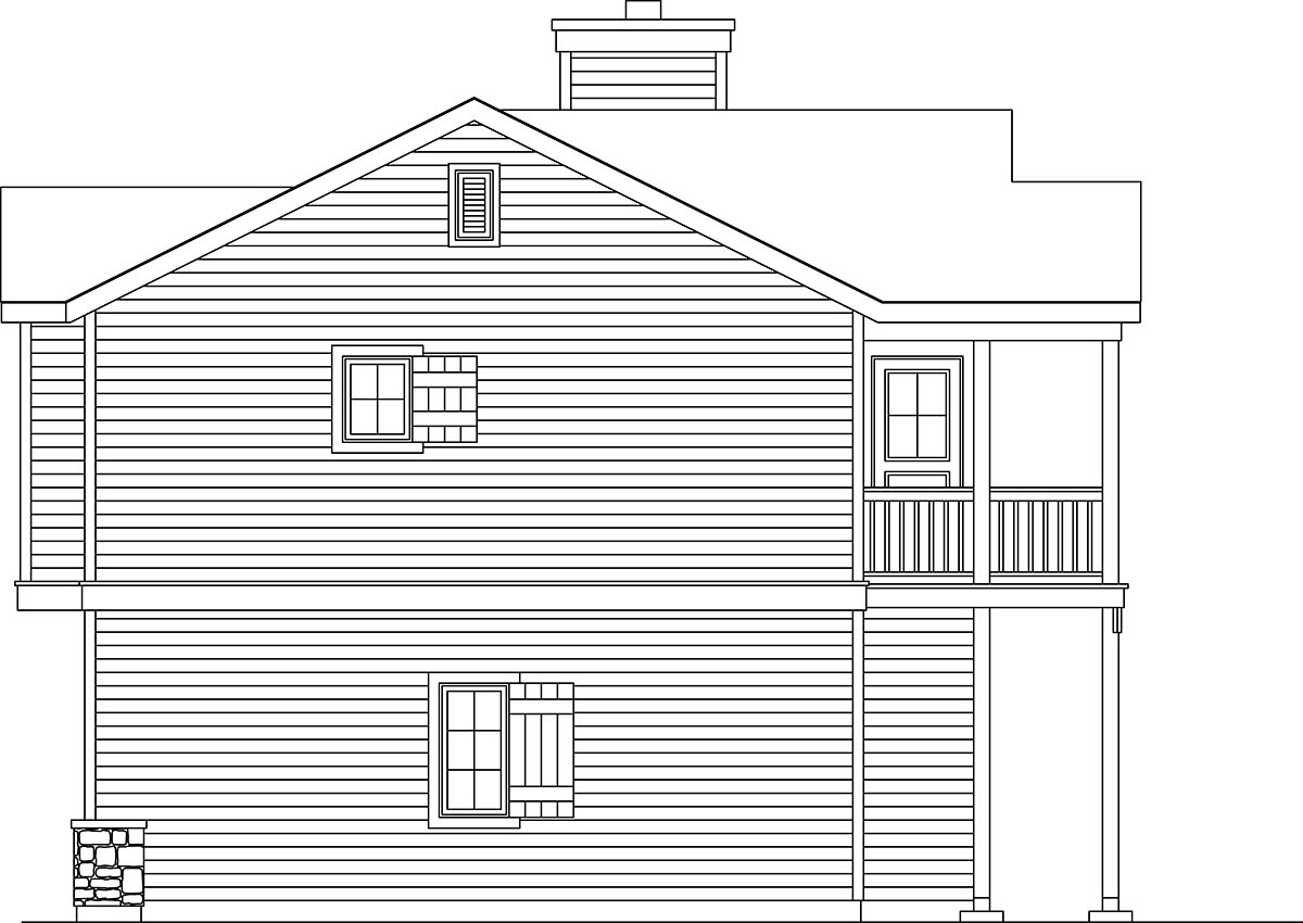 Traditional 2 Car Garage Apartment Plan 45191 with 1 Beds, 1 Baths Picture 1