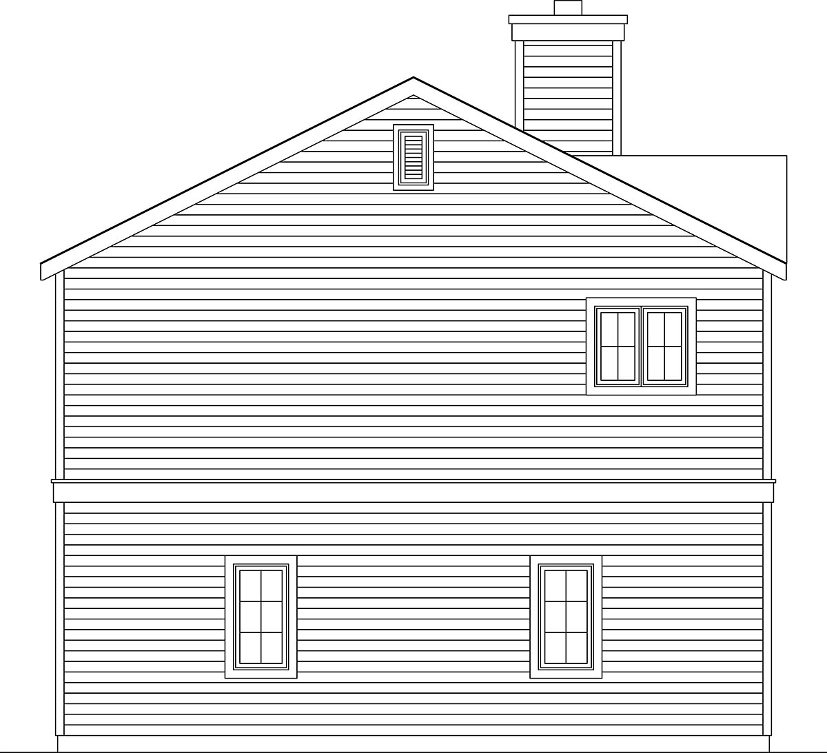 Traditional 3 Car Garage Apartment Plan 45192 with 2 Beds, 2 Baths Picture 2