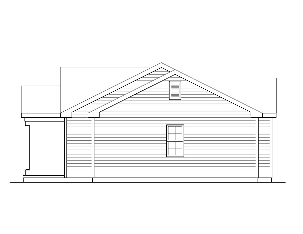 Ranch, Traditional House Plan 45194 with 3 Beds, 2 Baths, 2 Car Garage Picture 1