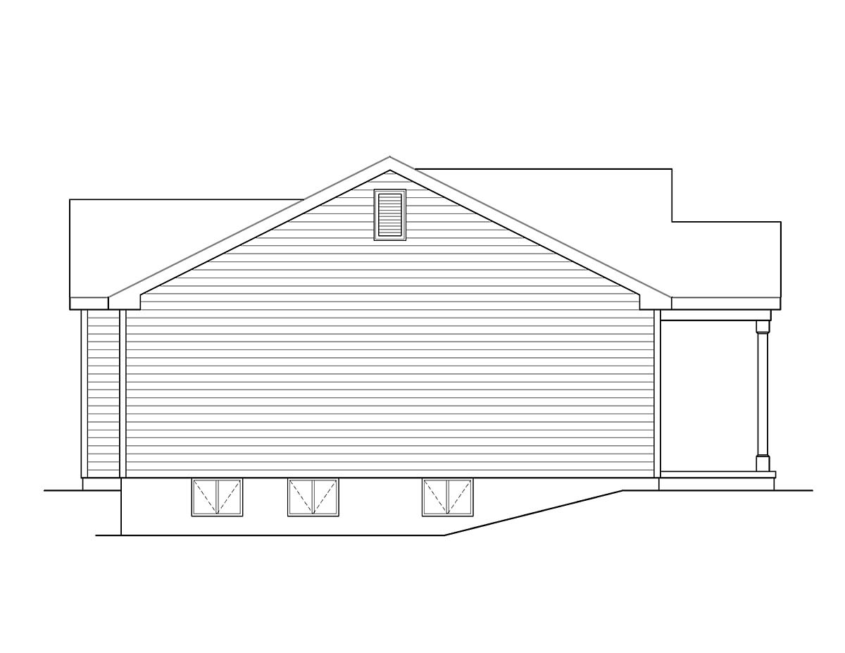 Ranch, Traditional House Plan 45194 with 3 Beds, 2 Baths, 2 Car Garage Picture 2