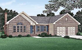 House Plan 45200 | Ranch Traditional Style Plan with 1801 Sq Ft, 3 Bedrooms, 2 Bathrooms, 2 Car Garage Elevation