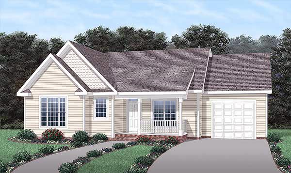 Traditional House Plan 45203 Elevation