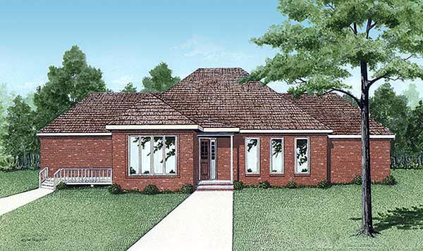Contemporary European House Plan 45207 Elevation