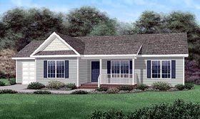 Ranch House Plan 45208 Elevation