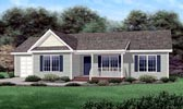 Plan Number 45208 - 1357 Square Feet
