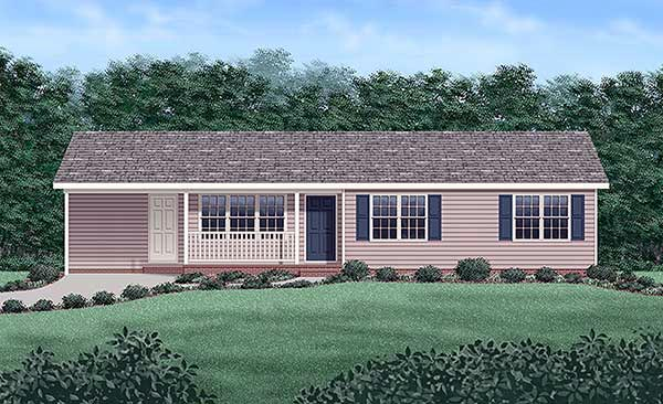 Ranch House Plan 45216 Elevation
