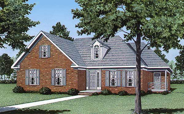 Traditional House Plan 45223 with 3 Beds, 2 Baths Elevation