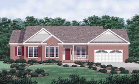 Traditional House Plan 45224 with 3 Beds, 2 Baths, 2 Car Garage Elevation