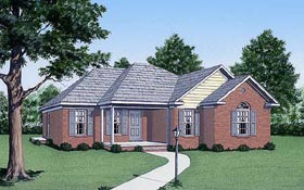 House Plan 45226 | Traditional Style Plan with 1474 Sq Ft, 3 Bedrooms, 2 Bathrooms Elevation