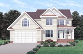 Traditional House Plan 45228 Elevation