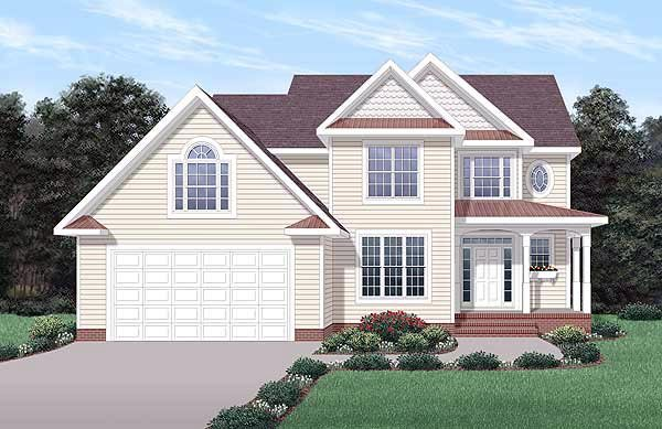 Traditional House Plan 45229 Elevation
