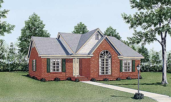 Traditional House Plan 45231 Elevation