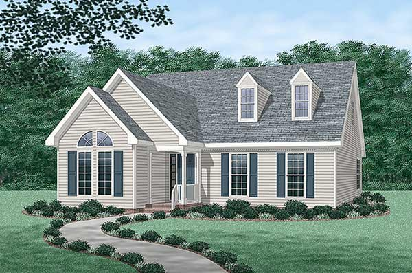 Cape Cod Country House Plan 45233 Elevation