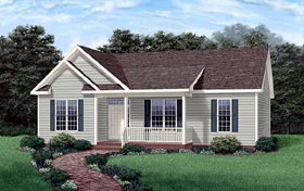 Ranch House Plan 45234 Elevation