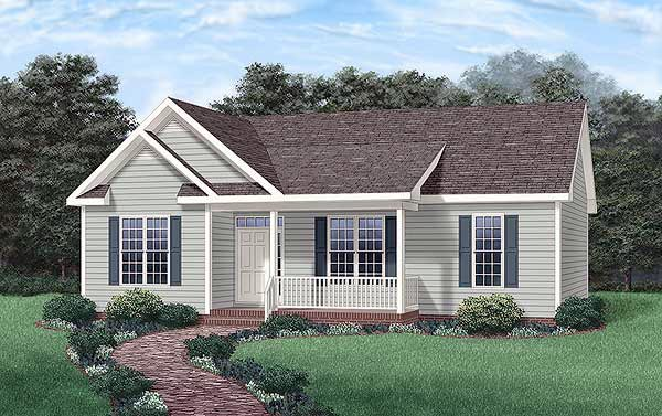 Country Ranch Elevation of Plan 45234