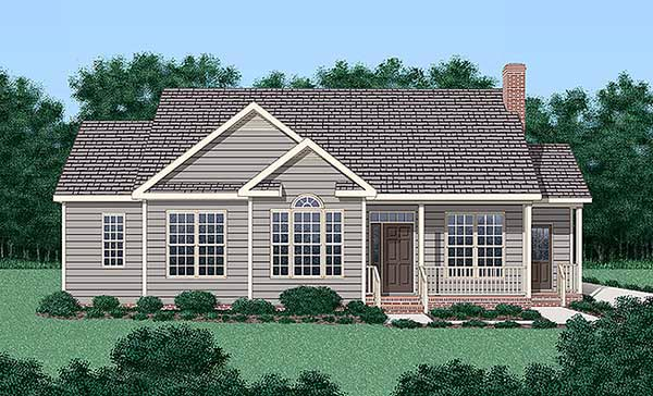 Traditional House Plan 45236 Elevation