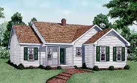 Traditional House Plan 45239 Elevation