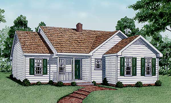 Traditional House Plan 45239 with 3 Beds, 2 Baths Elevation