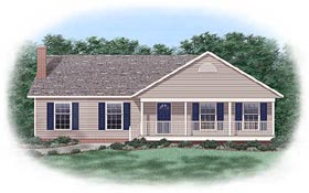 Ranch Traditional House Plan 45240 Elevation