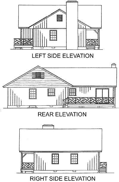 One-Story Ranch Traditional Rear Elevation of Plan 45241
