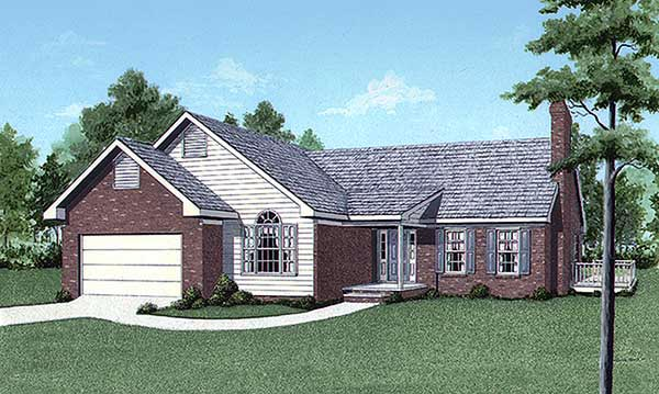Traditional House Plan 45242 Elevation