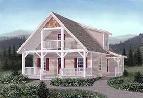 Craftsman House Plan 45244 Elevation
