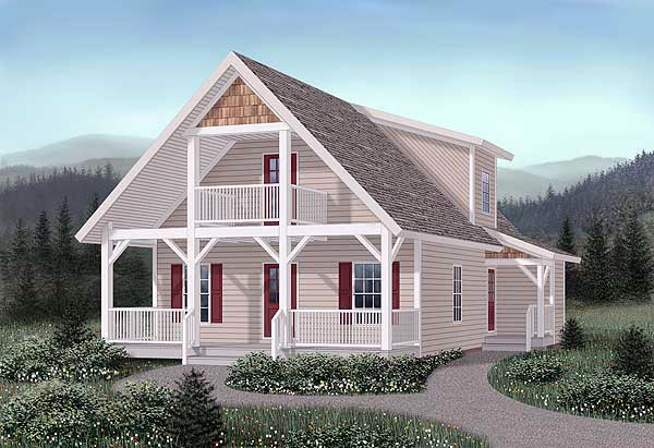 Craftsman House Plan 45244 Elevation
