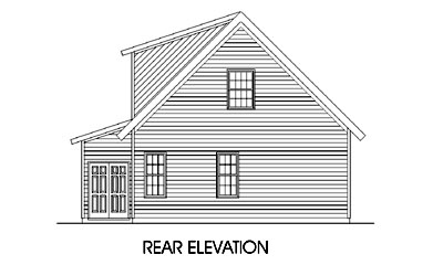 Craftsman House Plan 45244 Rear Elevation