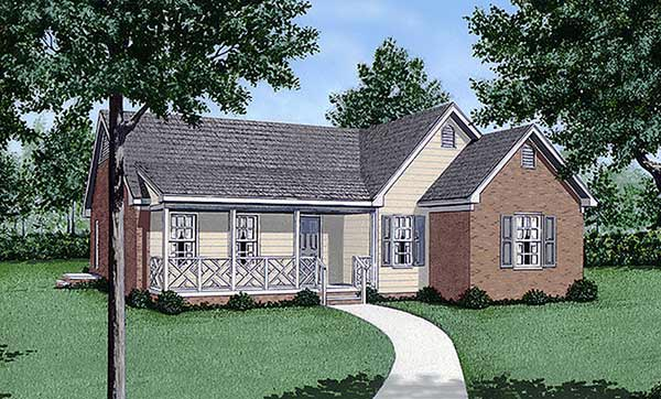 One-Story Traditional Elevation of Plan 45247