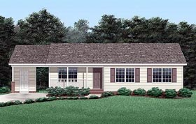 Ranch House Plan 45251 Elevation