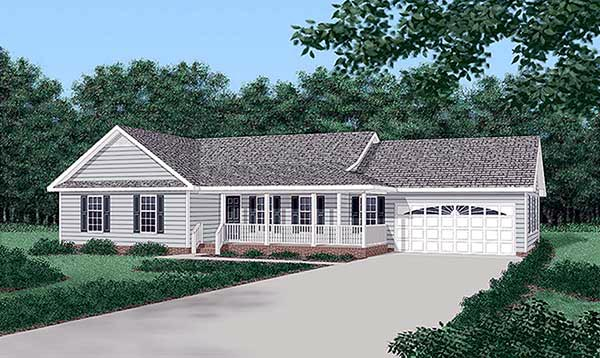 Ranch House Plan 45255 Elevation